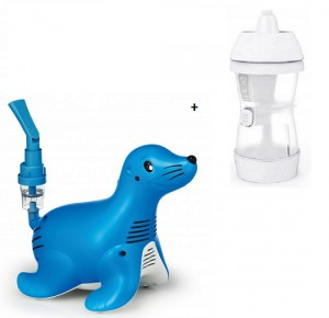 Inhalator Philips Respironics Sami the Seal + Emed  Nasal Washer irygator do oczyszczania nosa i zatok